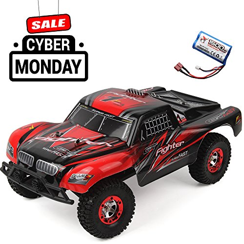 Jtt Toys 1 12 2 4G Rc Car Off Road Vehicle High Speed Racing Truck 35Km H Buggy 4 Wheel Independent Suspension Radio Control Cars With Extra Battery  Red