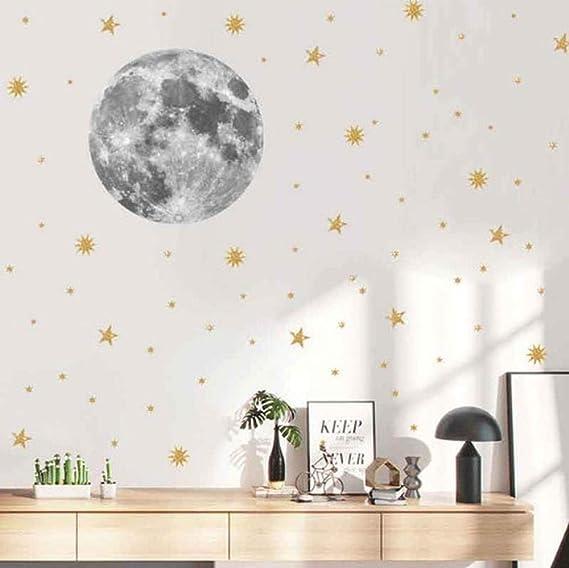 Luna nórdica pegatinas de pared para niños habitación PVC ...