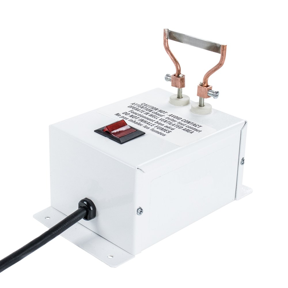 電動ロープカッター – 120 Vボルト48ワットのための熱ホット刃ナイフパラコードコードウェビングベルトリボン生地ロープカッターとプレミアム交換用熱電気切断ブレード  Electric Rope Cutter B06VVNMVRK