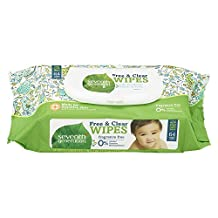 Seventh Generation Free and Clear Baby Wipes with Easy Open Top