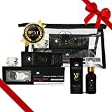 Derma Roller Kit 0.3MM and Vitamin C 25% Hyaluronic Serum with Soothing Cream Skin Care Set Bundle– Best Quality & Titanium Roller Organic Vitamin C Serum- Suitable For All Skin Types ZustBeauty