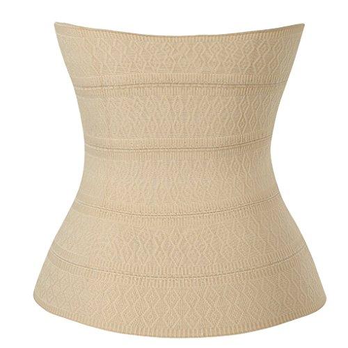 OSAYES Waist Cincher Corsé Fajas Reductoras de Cinturón Firme de Formación Underbust Bustier para Mujer en Negro Beige por OSAYES