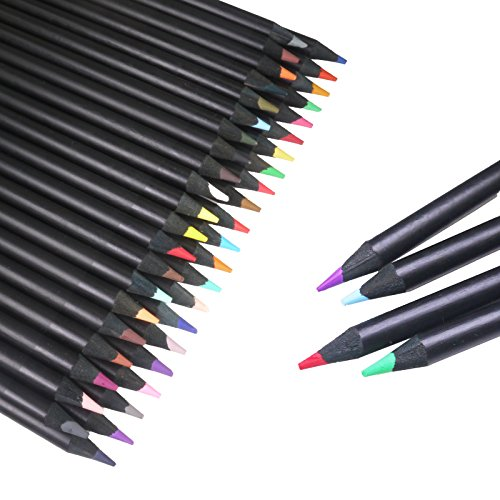 Kenting 48-color Oil Art Colored Pencils/ Drawing Pencils High Qulity Black Wood Assorted Colors for Professional