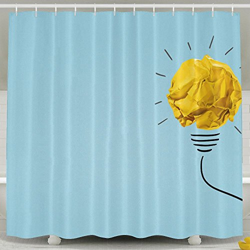 120 Volt Ball Type Float (Xiaobaby Ideas With Yellow Crumpled Paper Ball Lightbulb Cool Shower Curtain 6072inch)
