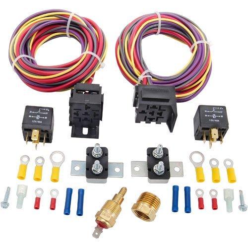 JEGS 10571 Dual Fan Wiring Harness & Relay Kit