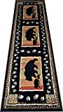 Cheap Dean Black Bear Lodge Cabin Bear Carpet Runner Rug Size: 2'3″ x 7'7″