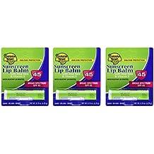 Banana Boat Aloe Vera Sunscreen Lip Balm with Vitamin E SPF 45 3-Pack