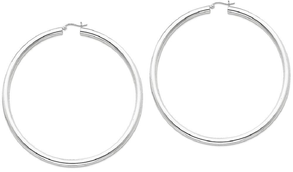 ICE CARATS 925 Sterling Silver 4mm Round Hoop Earrings Ear Hoops Set Fine Jewelry Gift Set For Women Heart