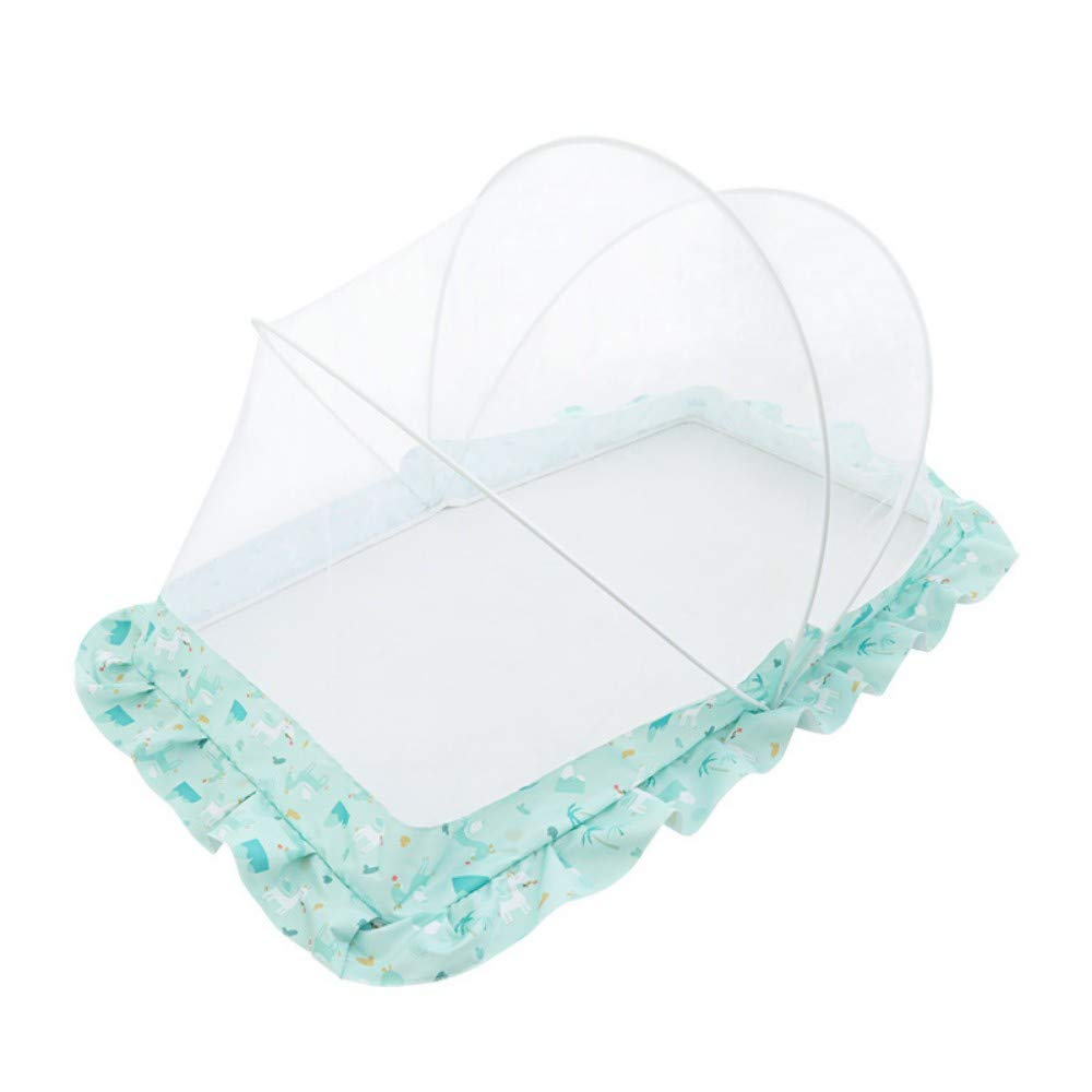 TYZNB Baby Mosquito net Summer Mosquito Folding Portable Free Installation Child Mosquito net Bed Full Cover 2019 New, Blue, 1206550cm
