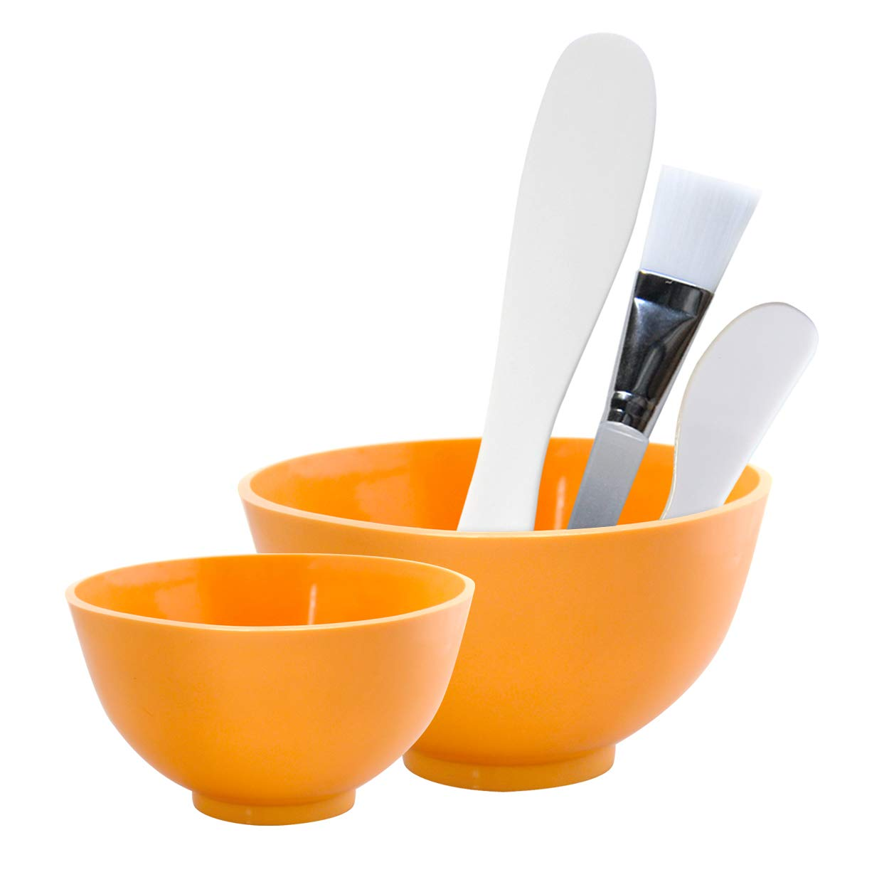 Appearus Facial Mask Rubber Mixing Bowl Set - Spa Face Mask Mixing Tool (Pumpkin Orange) by Appearus