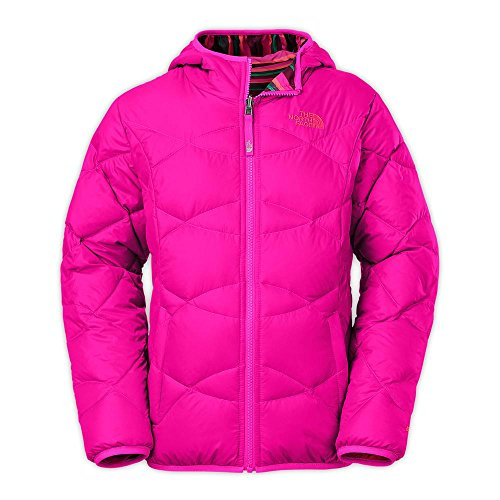 The North Face Girls Reversible Moondoggy Down Jacket Pink Size XL (18) by The North Face