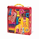 B. toys - Bristle Blocks Stackadoos - 68 Toy Blocks in a Storage Pouch - BPA Free STEM Toys Building Blocks for Kids 2 years +