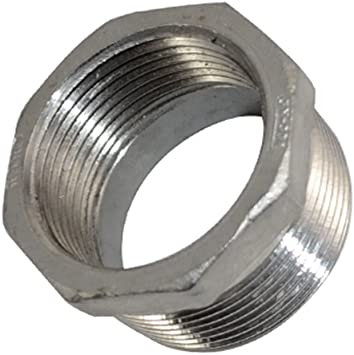 "316 Stainless 1-1//2/"" Male x 3//4/"" Female NPT Pipe Thread Hex Reducer Bushing New."