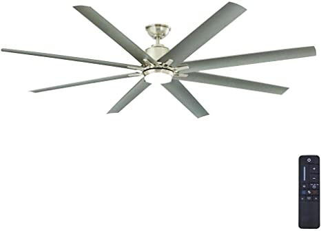 Amazon Com Home Decorators Collection Kensgrove 72 In Led Indoor Outdoor Brushed Nickel Ceiling Fan Home Kitchen