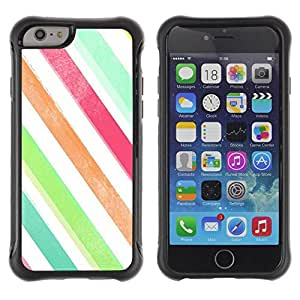 Pulsar iFace Series Tpu silicona Carcasa Funda Case para Apple (4.7 inches!!!) iPhone 6 , Colores Blanco Verde trullo""