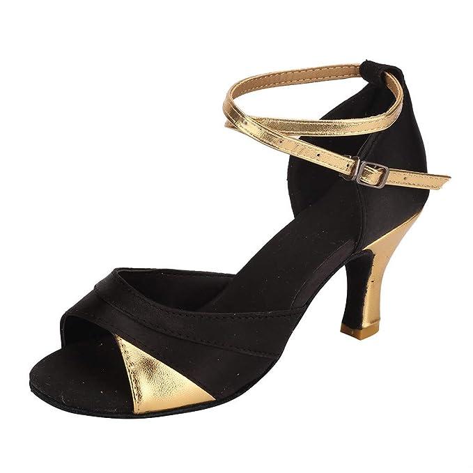 845b303940 Amazon.com: HENWERD Ballroom Dance Shoes Women Latin Salsa Bachata ...