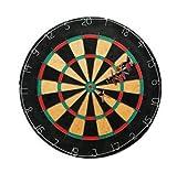 Triple Out Darts Tournament Bristle Dartboard with 6 Regulation Steel Tip Darts