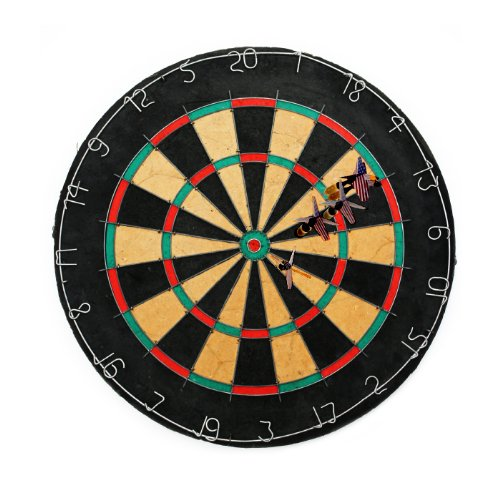 Tournament Bristle Dartboard Set - Includes 6 Steel Tip Darts! by Poker Supplies