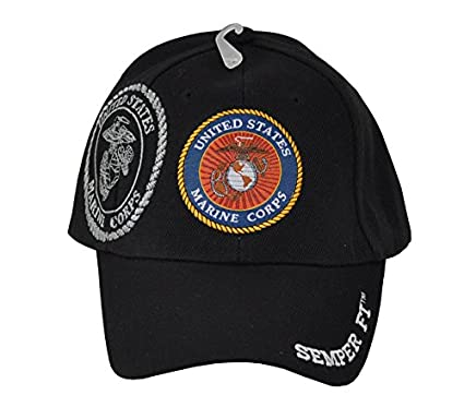US Marine Corps USMC Emblem Military Baseball Hat Cap