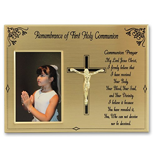 Cathedral Art WL310 Remembrance of First Holy Communion Picture Frame, 8 by 6-Inch by Cathedral Art