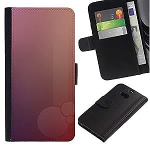JackGot ( Pink Bubble ) HTC One M8 la tarjeta de Crédito Slots PU Funda de cuero Monedero caso cubierta de piel