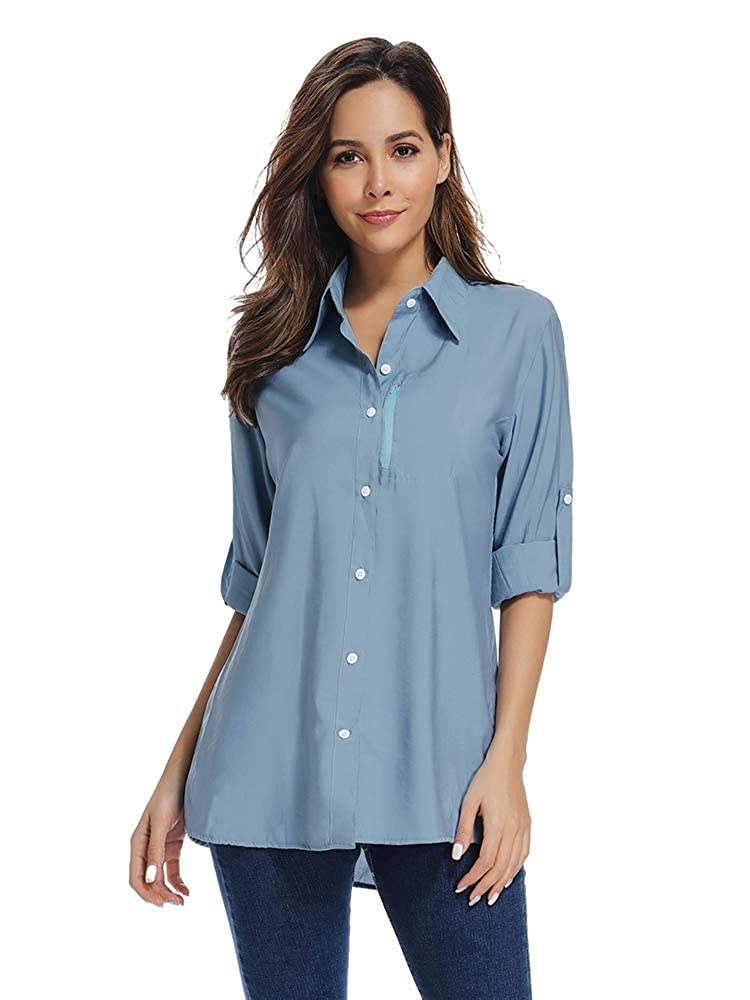 Women's PFG Long Sleeve Shirt, UV Sun Protection, Moisture Wicking Fabric