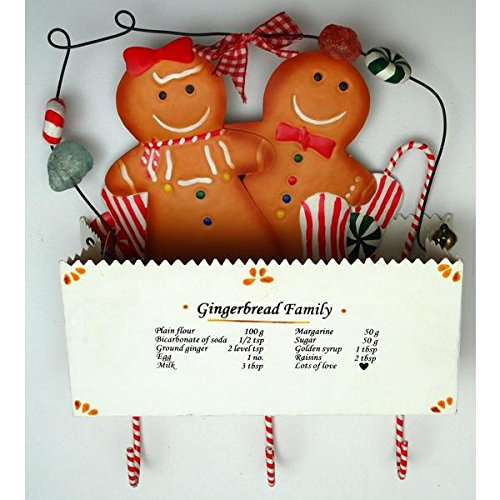FindingKing Metal Gingerbread in Box Wall Pocket with 3 Hooks