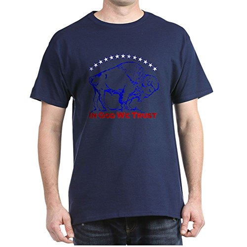 CafePress Bison Icon 100% Cotton T-Shirt Navy