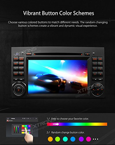 XTRONS Android 6.0 Octa-Core 64Bit 2G RAM 32GB ROM 7 Inch Capacitive Touch Screen Car Stereo Radio DVD Player GPS CANbus Screen Mirroring Function OBD2 Tire Pressure Monitoring for Mercedes-Benz by XTRONS (Image #6)