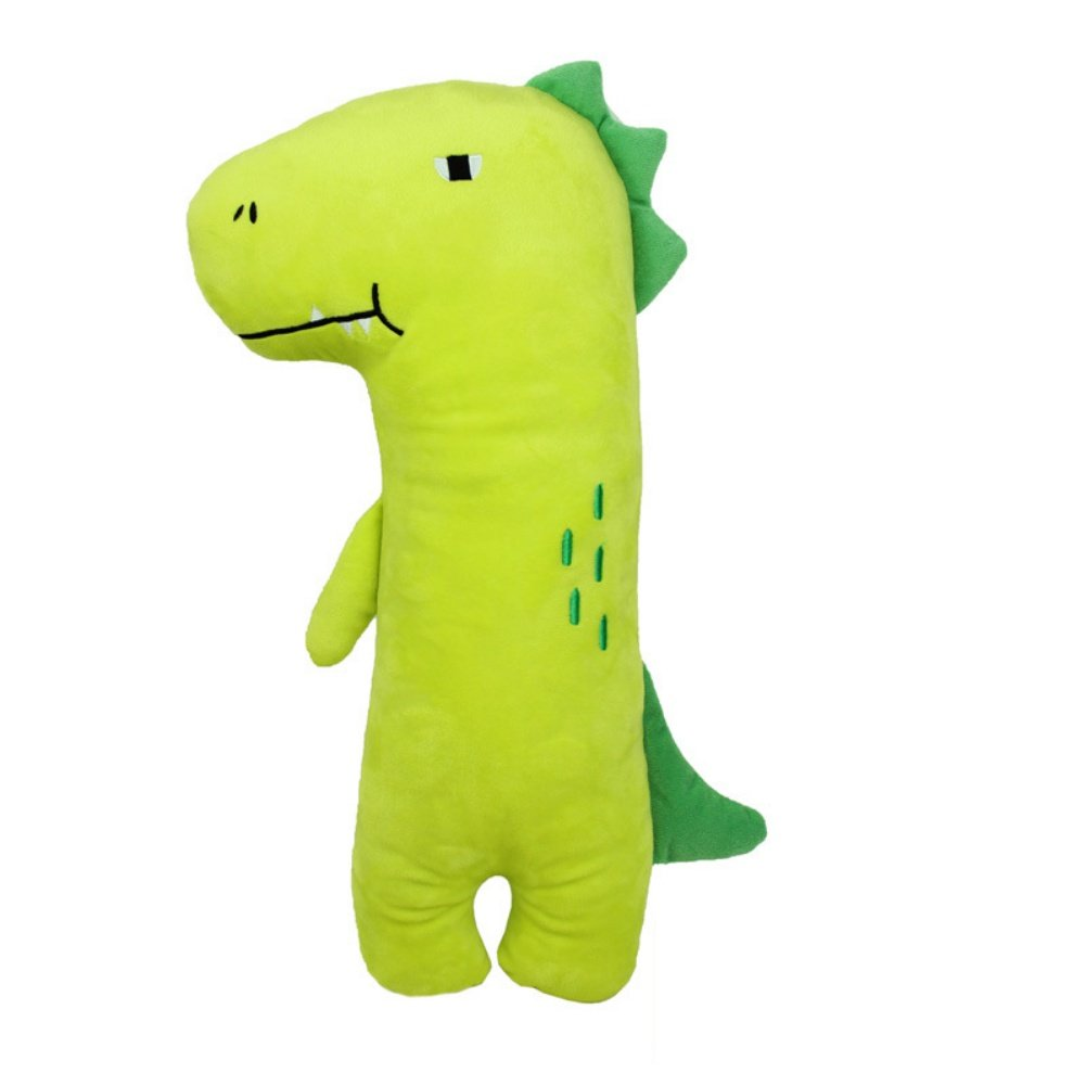 Apomelo Green Stuffed Dinosaur Car Seat Belt Pillow for Kids, Neck Support Pillow Adjustable Seat Strap Shoulder Pads Road Trip Pillow Seatbelt Buddy, Green Dinosaur by Apomelo