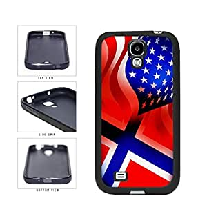 diy phone caseNorway and USA Mixed Flag TPU RUBBER SILICONE Phone Case Back Cover Samsung Galaxy S4 I9500diy phone case