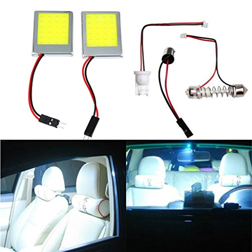 Happy Hours Super Bright 2 Pcs 9W White Color LED Car Interior Dome Lights B