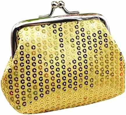 TOPUNDER Womens Small Sequin Wallet Card Holder Coin Purse Clutch Handbag  Bag 0efd50a5ef67d