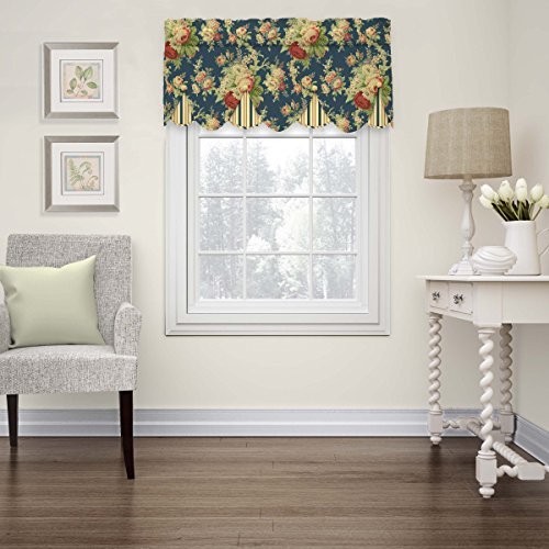 WAVERLY Kitchen Valances for Windows - Sanctuary Rose 52
