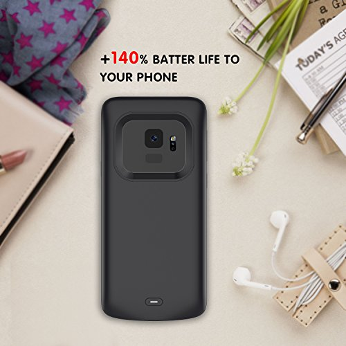 Samsung Galaxy S9 Battery Case, FugouSell 4700mAh Rechargeable Extended Battery Backup Charger Case External Juice Pack Portable Power Bank Protective Cover for Samsung Galaxy S9 (Black)