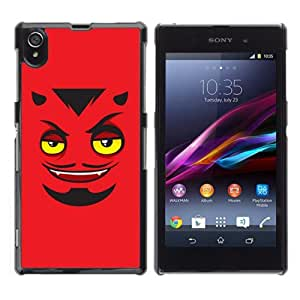 YOYOSHOP [Funny Devils Face] Sony Xperia Z1 L39h Case