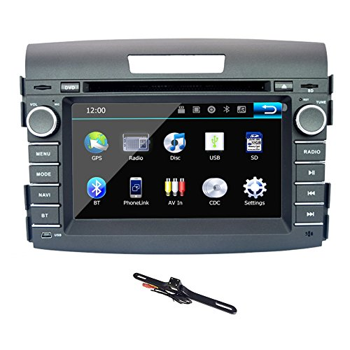TOCADO 7'' Car Stereo Fit for HONDA CRV 2012 2013 TouchScreen In Dash Car DVD Receiver Double Din GPS Navigation Car DVD Player Support CD DVD VCD MP3 BT GPS + Backup Camera