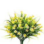MIXROSE-Small-Artificial-Fake-Faux-Yellow-Campanula-Flowers-Arrangement-Bouqet-for-Home-Kitchen-Counter-Table-Desktop-Office-Dcor-4-Bunches