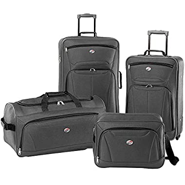 American Tourister Luggage Fieldbrook II 4 Piece Set (One Size, Charcoal)