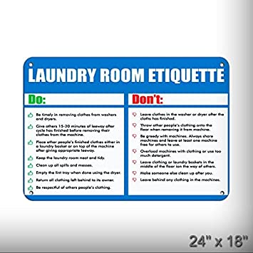 Amazon com: New Follow Rules For Better LAUNDRY ROOM