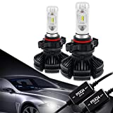 PSX24W 2504 LED Headlight Bulbs Conversion Kit CANBUS Error Free 3000K 6500K 8000K Free DIY PHI-ZES 12000LM/set Driving Fog Lights Replace Halogen Xenon HID Bulb +1Pair DECODER,1 Yr Warranty