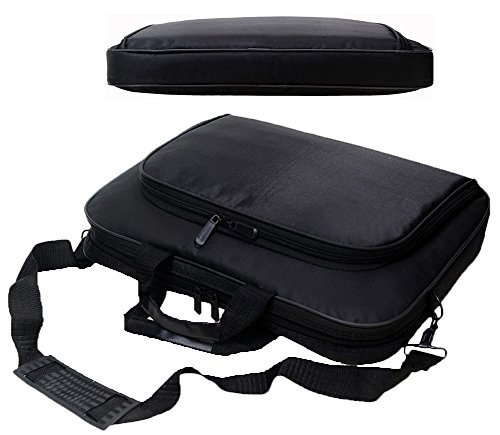 Messenger Bag For 15 Inch Laptop Computer Bag Macbook Shoulder Bag Business Backpack College Bookbag Travel Business Backpack Black Bag by FL Margaret (Image #3)'