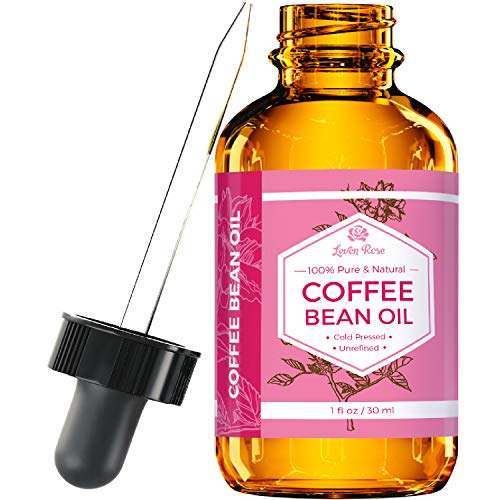 Rose Bean - Coffee Bean Oil by Leven Rose, 100% Natural Pure Cold Pressed Unrefined Coffee Bean Oil 1 oz