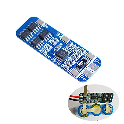 BELONG 10pcs 3S 10A Lithium Battery Charger Protection Board Module for 3pcs 18650 Lipo Li-ion Battery Charging BMS 12V 11.1V 12.6V