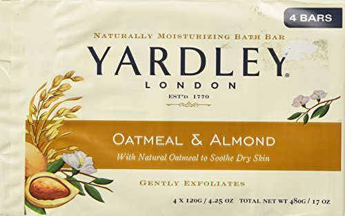 Yardley of London Naturally Moisturizing Bar Soap Oatmeal & Almond 3+1 - London Mall New