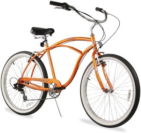 Firmstrong Urban Man Single Speed Beach Cruiser Bicycle, 26-Inch, Chrome