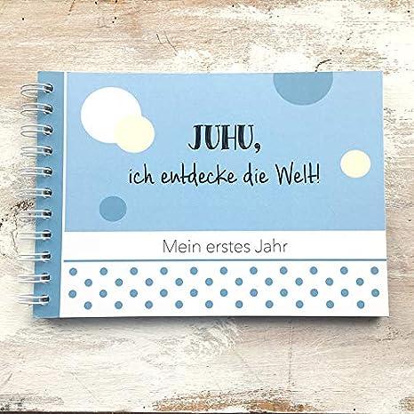 Libro de recuerdos BabyMi primer año Azul: Amazon.es: Bebé