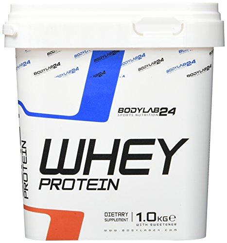 Protein-Pulver Bodylab24 Whey Protein Himbeer-Joghurt 1kg / Protein-Shake für Kraftsport & Fitness / Whey-Pulver kann…