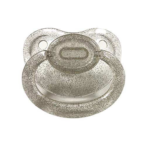 (TEN@NIGHT Adult Pacifier Size Dummy ABDL Silicone Pacifier Adult Nipple (Silver))