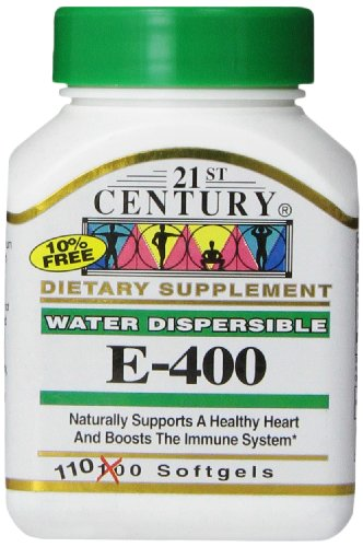 21st Century E 400 I.U. Water Dispersible Softgels, 110-Count - 400 Iu Water